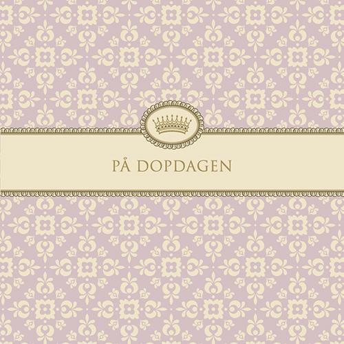 "Kort ""På Dopdagen""(gammelrosa) • Pryloteket"