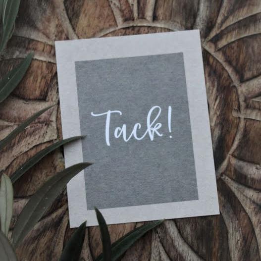 "Kort ""Tack!"" - Majas lyktor/ Barncancerfonden • Pryloteket"