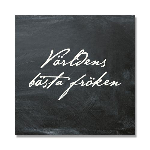 """Kort """"Världens bästa Fröken"""" (svart/vit) • Pryloteket"""