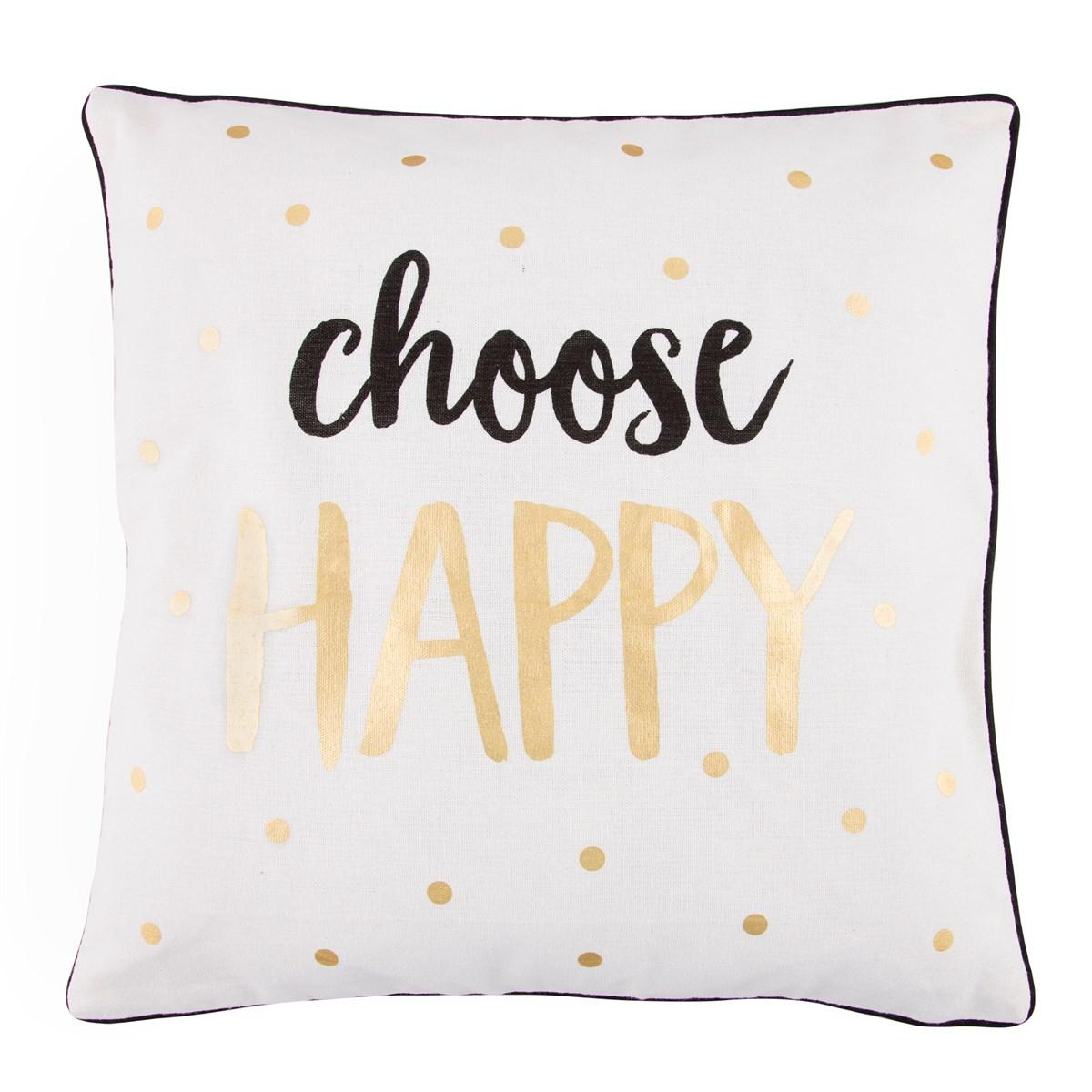 "Kudde ""Choose Happy"""
