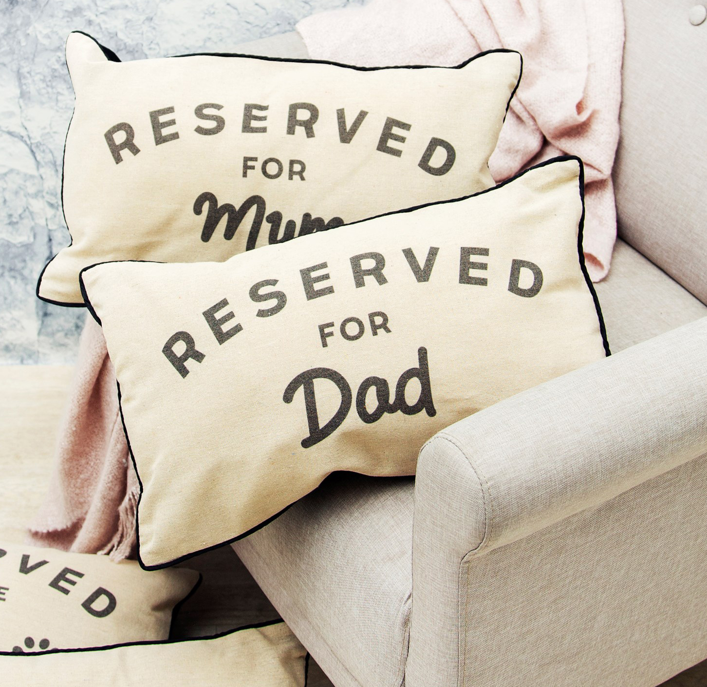 """Kudde """"Reserved for dad"""