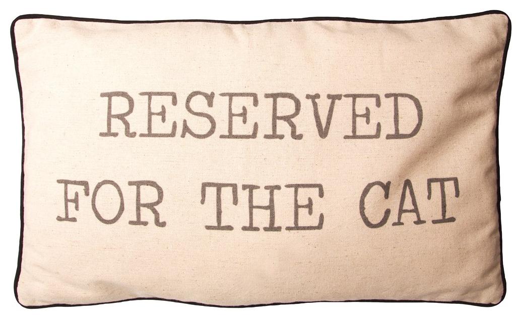 "Kudde ""Reserved for the cat • Pryloteket"