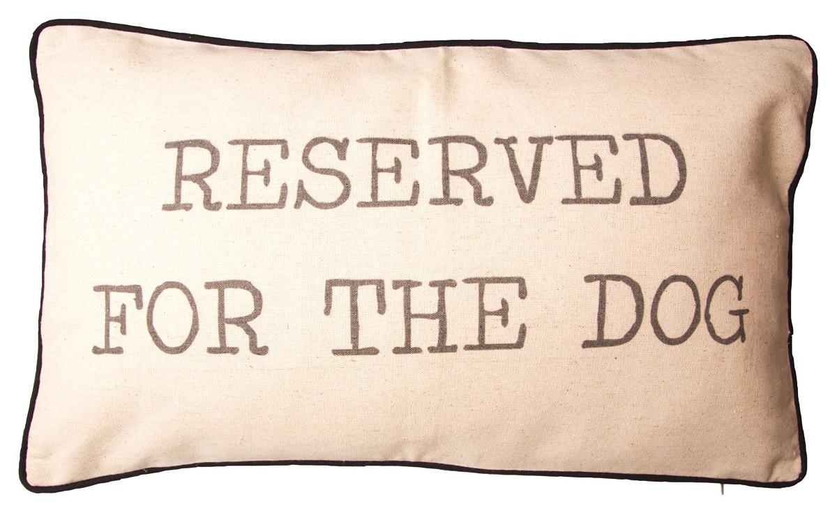 "Kudde ""Reserved for the dog • Pryloteket"