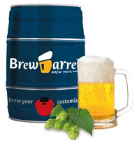 Ölbryggningskit, 5 liter - Brewbarrel (Lager)