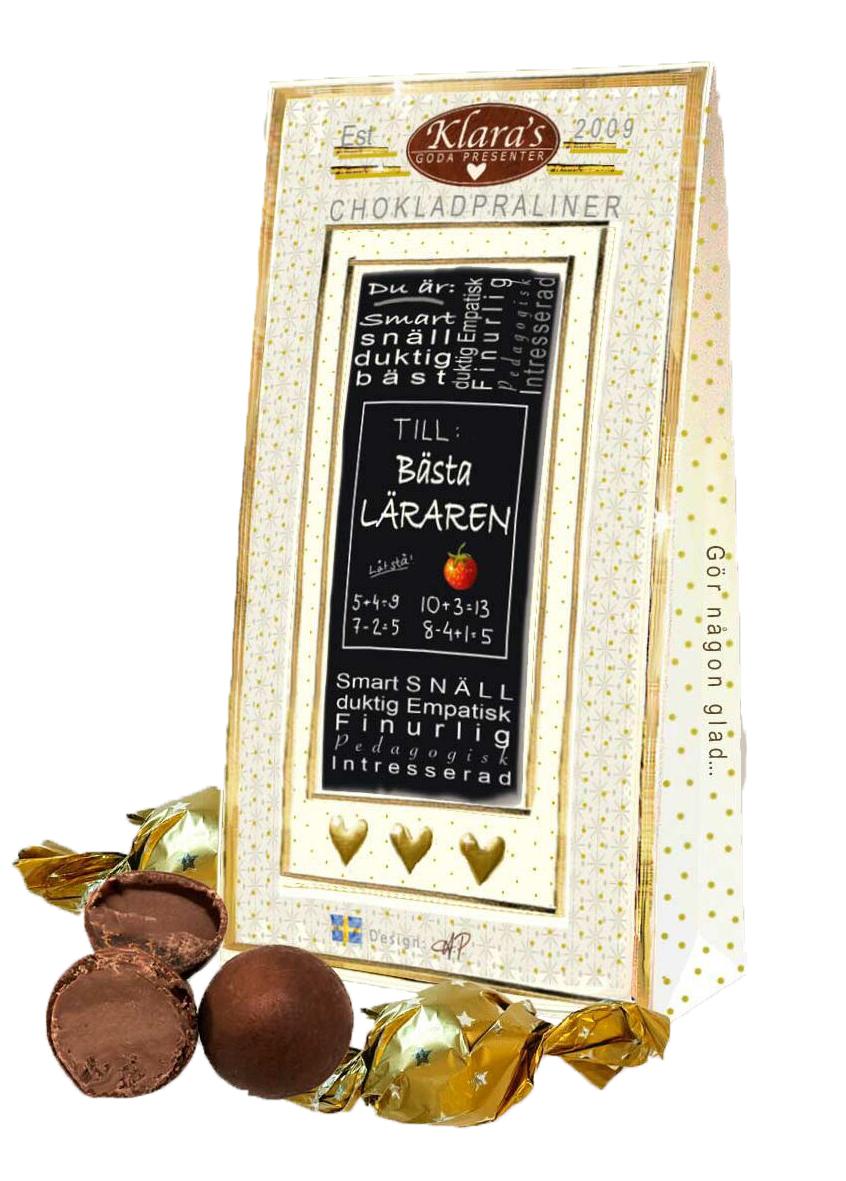 Till Läraren - Lyxiga chokladpraliner • Pryloteket