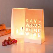 "Papperslykta ""Save water drink wine"", 2-pack - Räder • Pryloteket"
