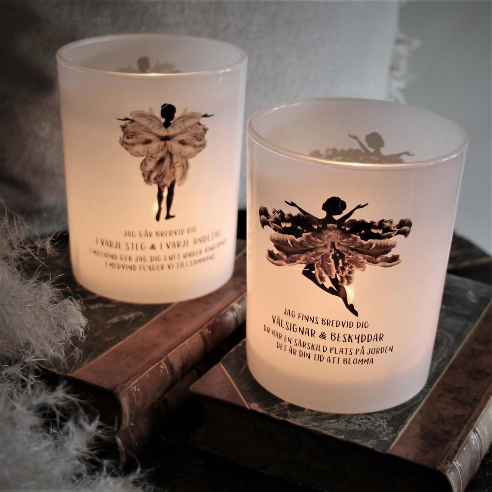 Ljuslykta Skyddsängel - Majas lyktor/ Barncancerfonden (Stående Ängel) • Pryloteket