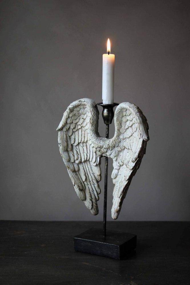 Ljusstake Angelwings Vintage - Majas lyktor/ Barncancerfonden • Pryloteket