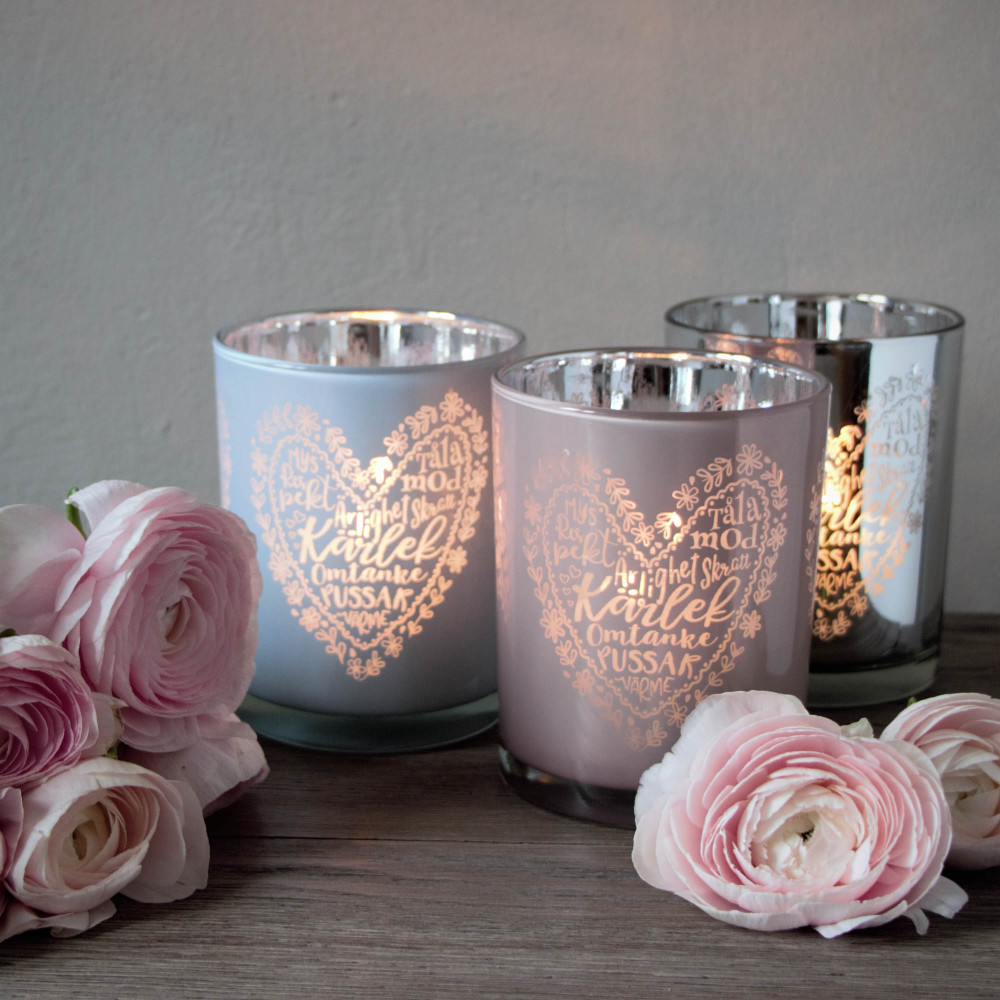 Ljuslykta Kärlek - Majas lyktor/ Barncancerfonden (Silver) • Pryloteket