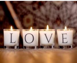 LOVE - Budskapsljus