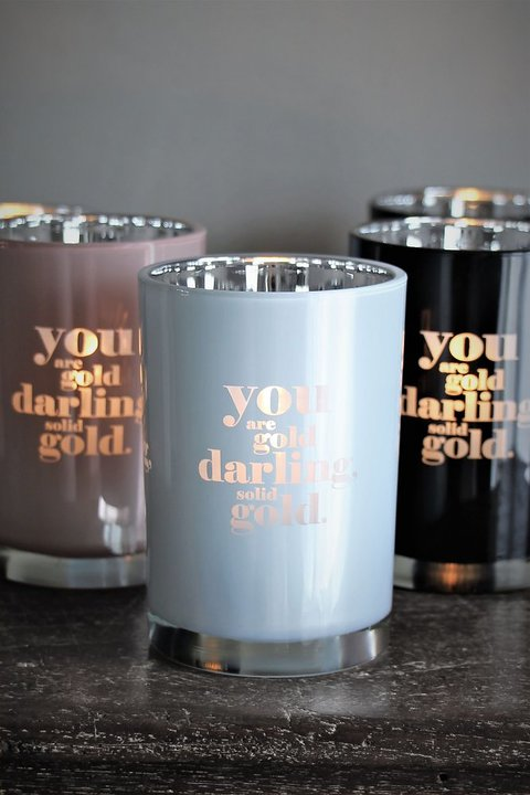 Ljuslykta Solid Gold - Majas lyktor/ Barncancerfonden (Svart) • Pryloteket