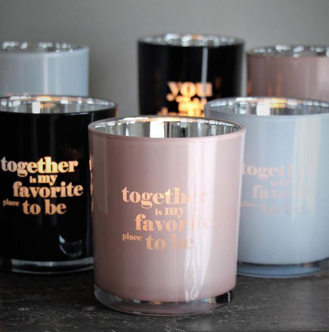 Ljuslykta Together - Majas lyktor/ Barncancerfonden (Rosa)
