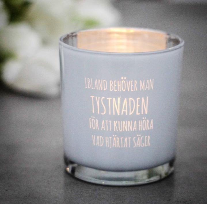 Ljuslykta Tystnaden - Majas lyktor/ Barncancerfonden • Pryloteket