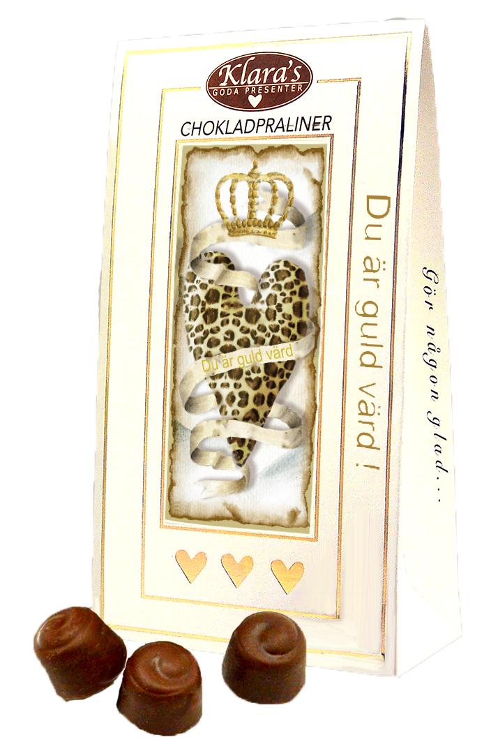 Du är guld värd - Lyxiga chokladpraliner • Pryloteket