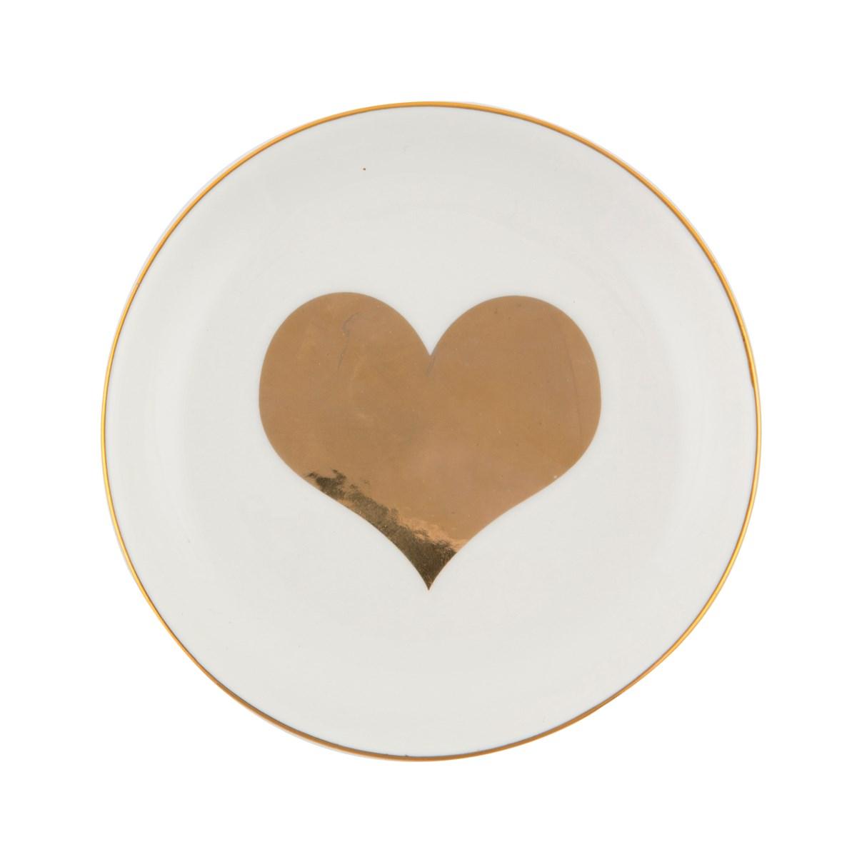 Keramikfat med Guldhjärta • Pryloteket
