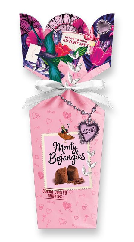 """With Love"" lyxiga chokladtryfflar från Monty Bojangles"