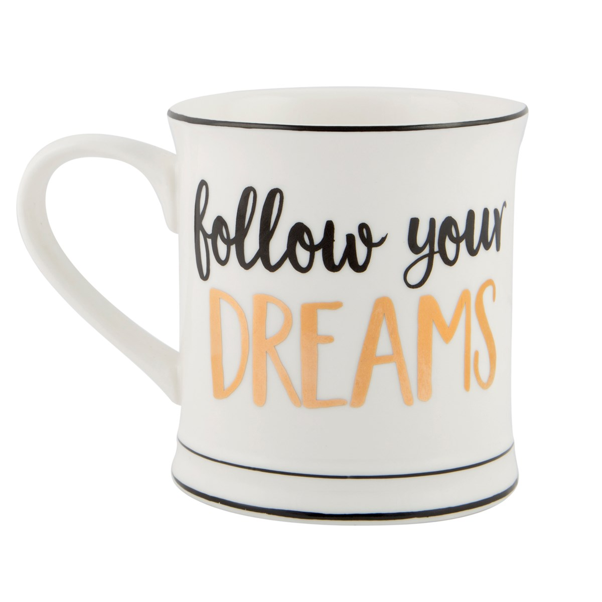 "Mugg ""Follow your dreams"" • Pryloteket"