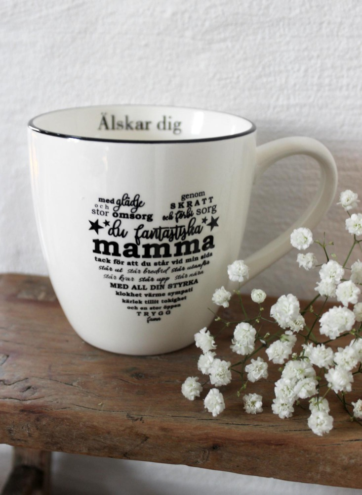 """Mugg """"Mamma"""" - Majas lyktor/Barncancerfonden"""