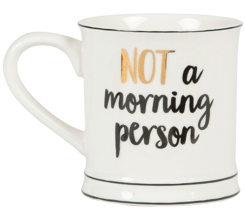 "Mugg ""Not a morning person"" • Pryloteket"