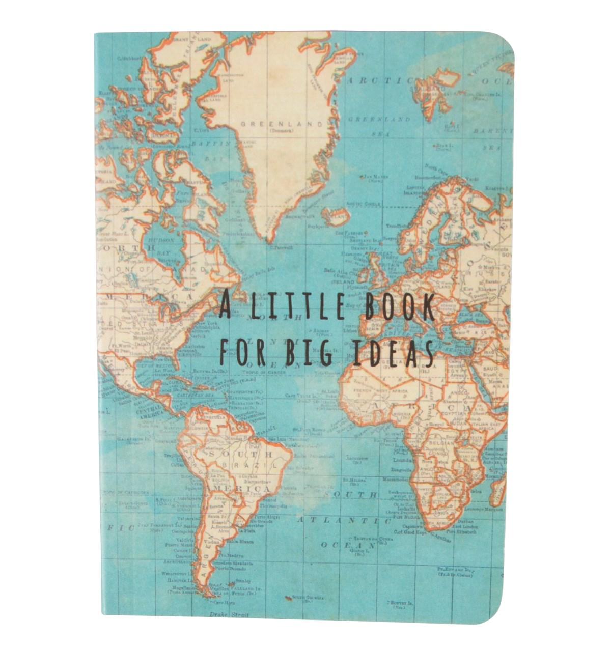 "Notebook Karta ""A little book for big ideas"" • Pryloteket"
