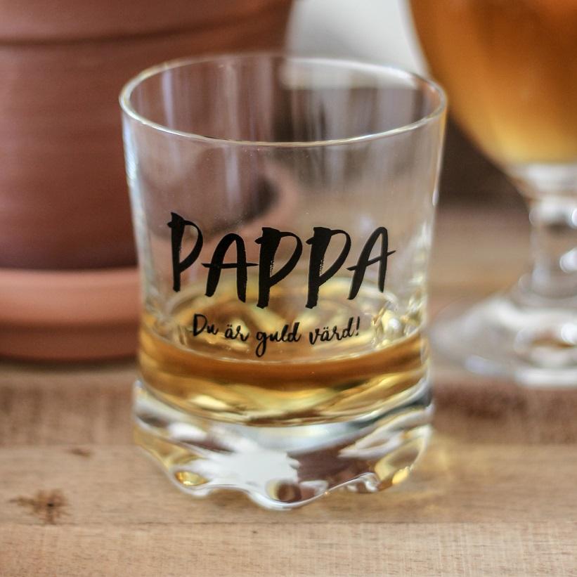 Whiskyglas Pappa - Majas lyktor/ Barncancerfonden