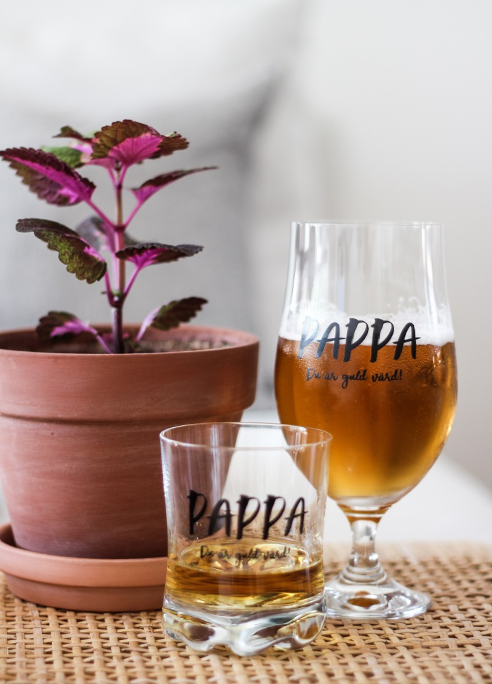 Ölglas Pappa - Majas lyktor/ Barncancerfonden