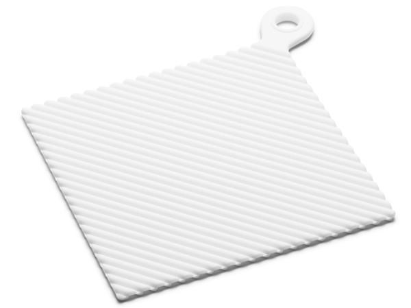 Grytlapp i silikon, vit - KG Design