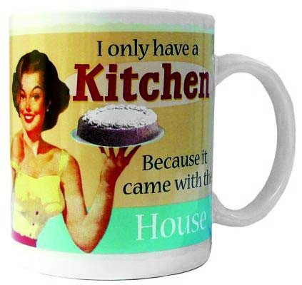 Retro mugg, I only have a kitchen because it came with the house