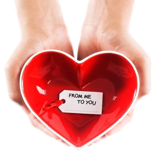 Hjärtanskål Sweetheart (röd/vit) - Sagaform • Pryloteket