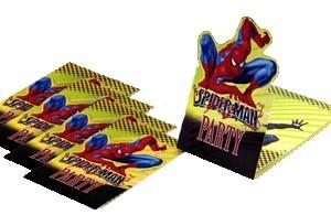 Inbjudningskort Spiderman, 6st