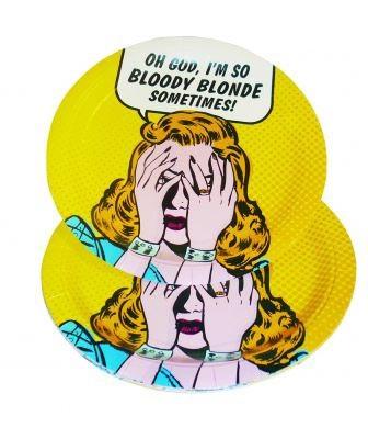 Tallrikar Bloody Blonde , 8st • Pryloteket