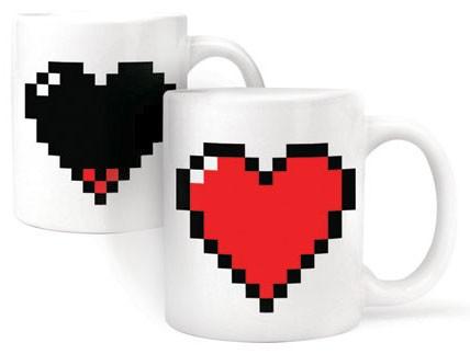"""Magisk Mugg """"Pixel-Hjärta"""