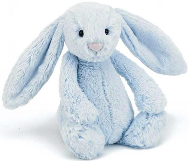 Bashful Kanin, blå - Jellycat • Pryloteket