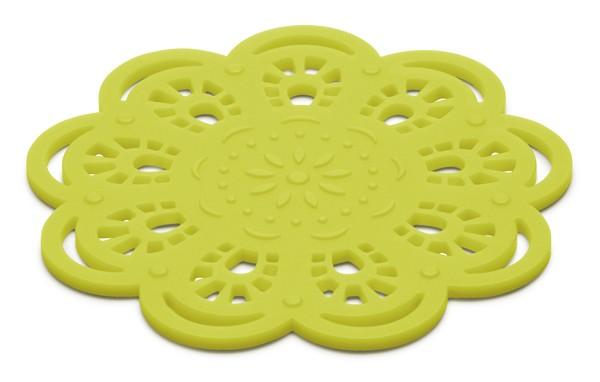 Glasunderlägg Spets i silikon, limegrön - KG Design