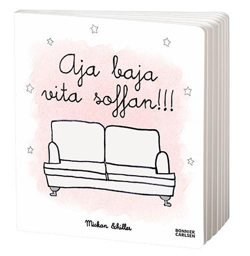 Aja baja vita soffan, en barnbok av Mickan Schiller från Solsidan