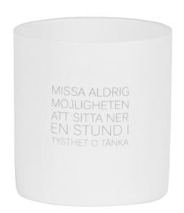 "Ljuslykta ""Missa aldrig möjligheten..."" - Ernst Kirchsteiger"
