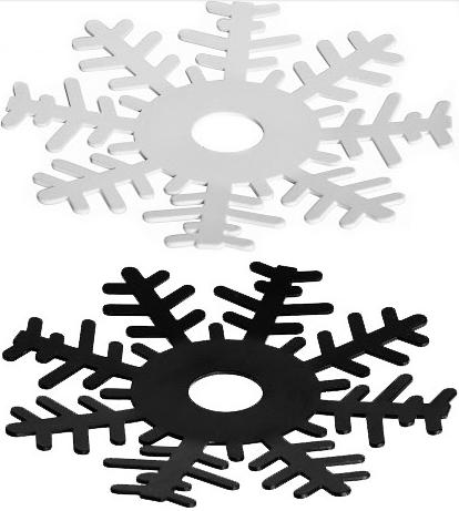 Ljusmanschett Snöstjärna - Ernst Kirchsteiger (Svart) • Pryloteket