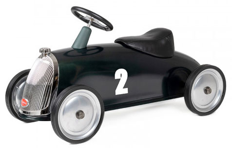 Gåbil Rider Gentleman i retromodell, mörkgrön- Baghera