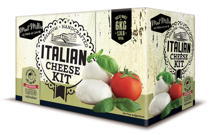 Ostkit för att tillverka egen Italiensk ost