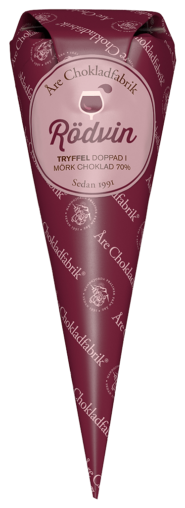 Rödvinstryffel - Choklad från Åre Chokladfabrik • Pryloteket