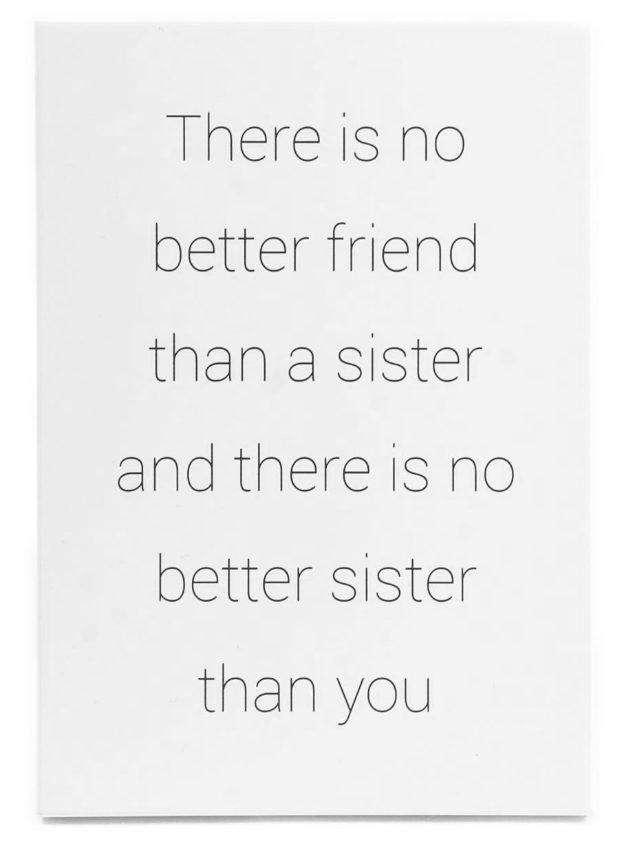 "Skylt ""Sisters are best friends"""
