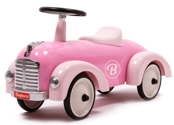Gåbil i retromodell, rosa - Baghera • Pryloteket