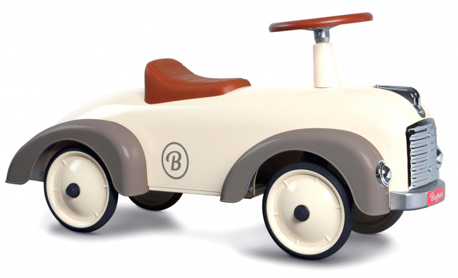 Gåbil Speedster i retromodell, creme/grå - Baghera • Pryloteket