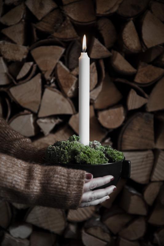 Svart Ljusskål - Ernst Kirchsteiger (Liten 12 x 5,5cm) • Pryloteket