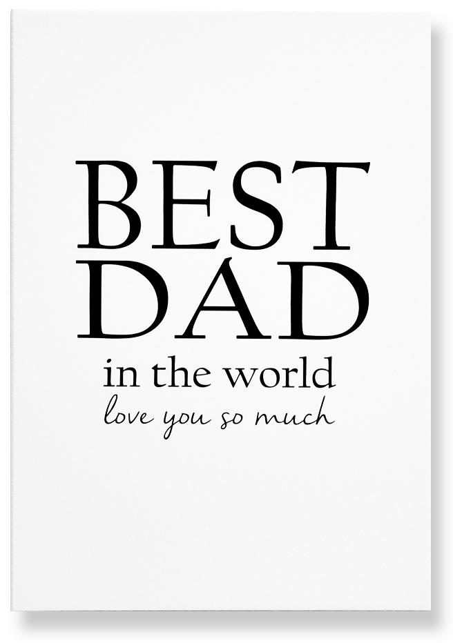 "Skylt ""Best Dad"" • Pryloteket"