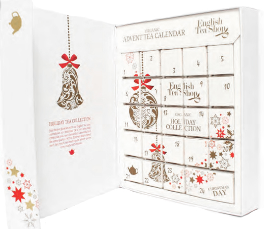 Te-Adventskalender Ekologisk (Vit förp.) - English Tea Shop
