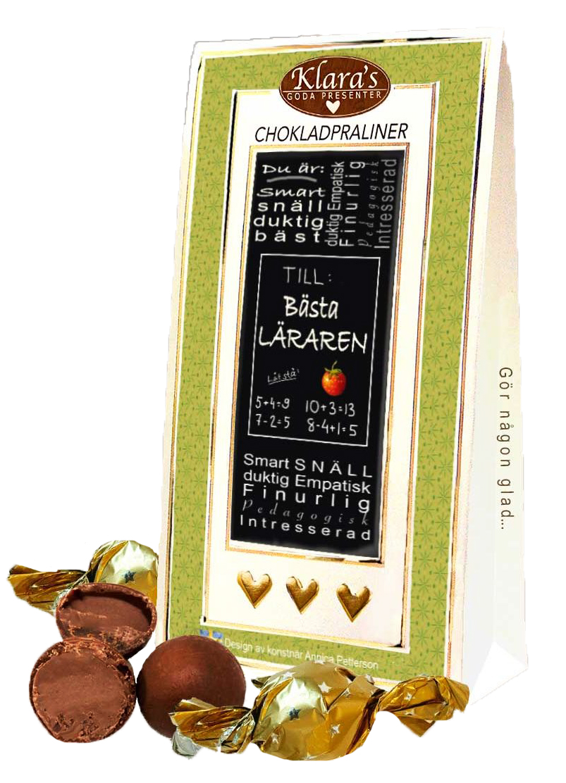 Till Läraren- Lyxiga chokladpraliner • Pryloteket