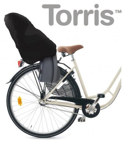 Torris - smidigt skydd till cykelbarnsitsen (Svart)