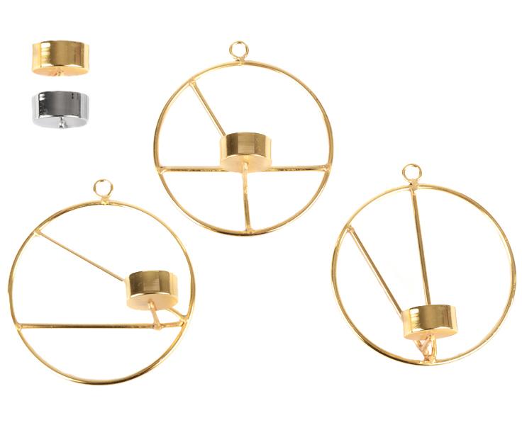 Väggljushållare Lines, liten, 3-pack - Form Living (Guld)