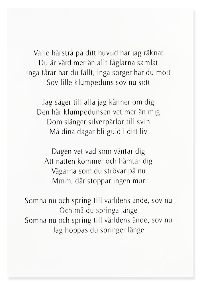 "Tavla ""Vaggvisa"" - Håkan Hellström • Pryloteket"